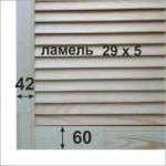 жалюзийные дверцы размеры
