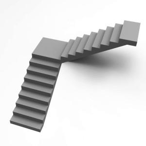 Бетонная лестница с поворотом