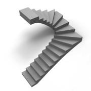 бетонная лестница поворотная