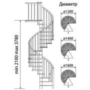 винтовая-лестница-Юта-чертеж