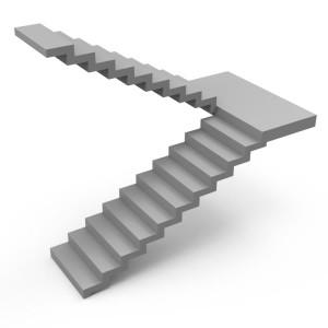бетонная лестница зеркальная